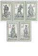 Dobové kostými ze starých rytin - čistá - č. 2621-2625