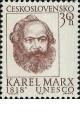 150. výročí narození Karla Marxe - čistá - č. 1664