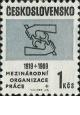 50. výročí Mezinárodní organizace práce - čistá - č. 1743