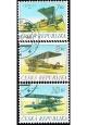 Československá historická letadla - razítkovaná - č. 126-128