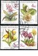 Ochrana přírody - chráněná květena - razítkovaná - č. 134-137