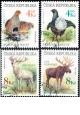 Ochrana přírody - Vzácná zvěř - razítkovaná - č. 179-182