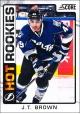 Hokejové karty SCORE 2012-13 - Rokkie - J.T. Brown - 528