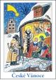 Josef Lada - Vánoce - pohlednice - Svatá noc 1933