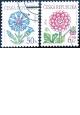 Krása květů - chrpa a jiřina - razítkovaná - č. 378-379