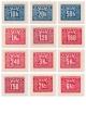 Doplatní - hlubotisk - čistá poštovní známka - č. D67-D78