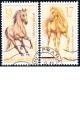 Koně - Chlumecký plavák a palomino - razítkované známky - č. 786-787