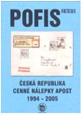 Cenné nálepky APOST ČR 1994 – 2005.