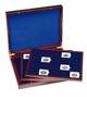 Dřevěný box na 60 ks papírových pouzder s mincemi