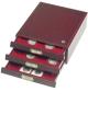Mincovní boxy v mahagonové barvě a imitaci dřeva - HMB 35