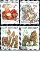 Ochrana přírody - vzácné houby - razítkovaná - č. 264-267