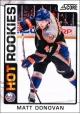 Hokejové karty SCORE 2012-13 - Rokkie - Matt Donovan - 532