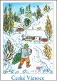 Josef Lada - Vánoce - pohlednice - Se stromečkem 1938