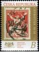 Známka na známce - Chybotisk 50 na 50 - č. 1089 - za nominál