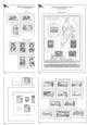 Albové listy A4 Československo (1945-1992), nezasklené, základní komplet (475), bez desek, vč.zesílených euroo