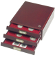 Mincovní boxy v mahagonové barvě a imitaci dřeva - HMB 35R/32