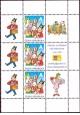 Čtyřlístek: výplatní písmenová známka A s kupóny pro přítisky - č. 641 - 6x kupony