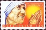 100. výročí narození matky Terezy - Rakousko - 1,30 Euro