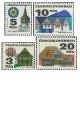 Výplatní známky - Lidová architektura - čistá - č. 1964-1967