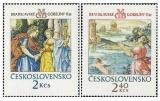 Bratislavské gobelíny 1974 - čistá - č. 2102-2103