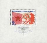 55. výročí založení KSČ - čistý - aršík - č. A2205