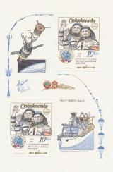 INTERKOSMOS - 5. výročí společného letu SSSR - ČSSR - čistý - aršík - č. A2586