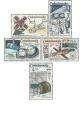 INTERKOSMOS - 1. výročí společného letu SSSR - ČSSR - čistá - č. 2359-2363