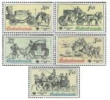 Poštovní muzeum ČSSR - historické poštovní vozy - čistá - č. 2469-2473