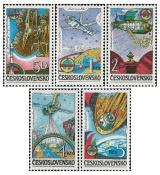 INTERKOSMOS - mezinárodní kosmické lety - čistá - č. 2638-2642