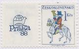Poštovní emblémy - PRAGA 88 - s kuponem - čistá - č. 2814