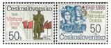 40. výročí Února 1948 a Národní fronty - čistá - č. 2829-2830