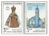 Pražské a bratislavské motivy - čistá - č. 2988-2989