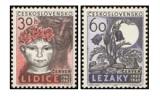 20. výročí vyhlazení Lidic a Ležáků - čistá - č. 1253-1254