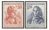 10. výročí Slovenského národního povstání - čistá - č. 796-797