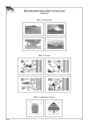Bundesrepublik Deutschland 2011-2013, A4, papír 160 g (22) – bez zesílených obalů