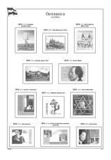 Rakousko 2010-2011, A4, papír 160 g (16) – včetně zesílených obalů