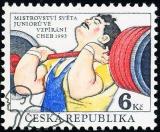 MS juniorů ve vzpírání - Cheb 1993 - razítkovaná - č. 8