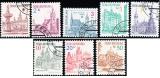 Města - výplatní známky - razítkovaná - č. 12-19