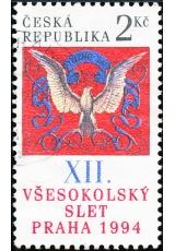 XII. všesokolský slet v Praze - razítkovaná - č. 47