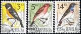 Ochrana přírody - zpěvné ptactvo  - razítkovaná - č. 49-51