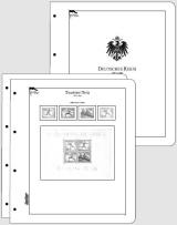 Albové listy CONTOUR-S  Deutsches Reich 1872-1945, nezasklené (80 listů), papír 250gr.