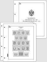 Albové listy CONTOUR-S  Rakousko 1850-1918, nezasklené (41 listů), papír 250gr.