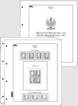 Albové listy CONTOUR-S  Polsko 1860-1939, nezasklené (77 listů), papír 250gr.