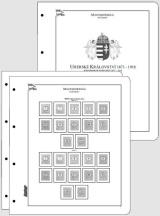 Albové listy CONTOUR-S  Maďarsko 1871-1918, nezasklené (24 listů), papír 250gr.
