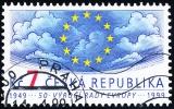 50. výročí založení Rady Evropy - razítkovaná - č. 214