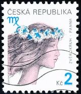 Znamení zvěrokruhu - Panna - razítkovaná - č. 258
