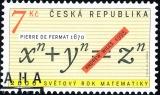 Světový rok matematiky - razítkovaná - č. 260