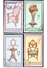 Sběratelství - slohový nábytek - razítkovaná - č. 339-342
