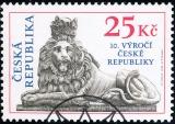 10. výročí České republiky - razítkovaná - č. 346