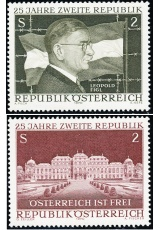 Rakousko - čistá - č. 1322-1323